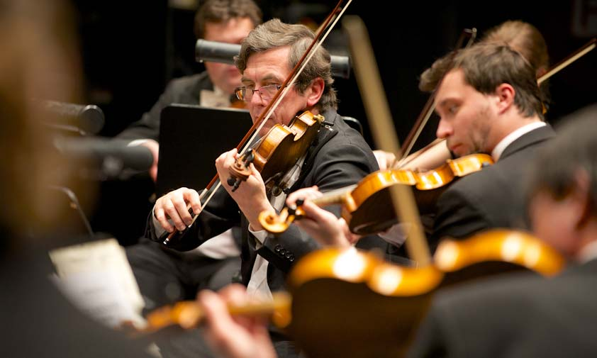 Musizierendes Orcheter