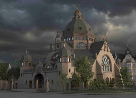 Virtuelle Rekonstruktion der Synagoge Dortmund. Foto: © Technische Universität Darmstadt, FG Digitales Gestalten