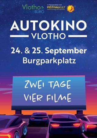 Im Autokino Vlotho gibt es am 24. und 25.09.2021 vier Filme zu sehen. Foto: ©Stadt Vlotho
